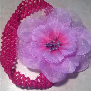 Lavender Flower with Pink Headband